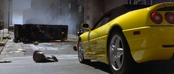 Ferrari F355 Spider (1996) car driven by Nicolas Cage in THE ROCK (1996) Movie Product Placement