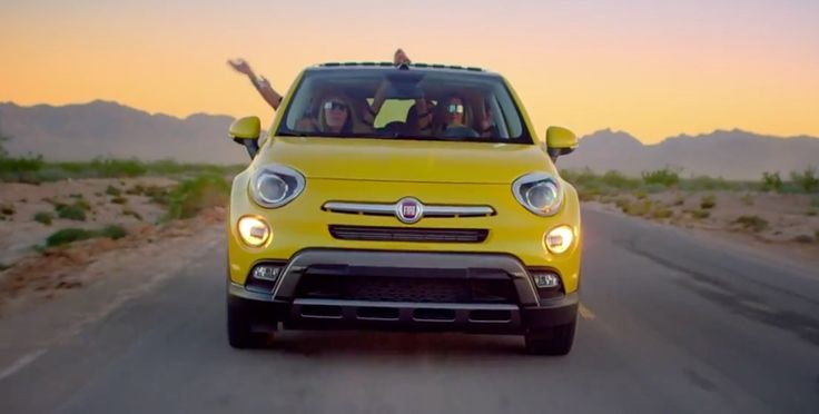 Fiat 500X car in ONE CALL AWAY [COAST TO COAST MIX] by Charlie Puth, Brett Eldredge, Ty Dolla $ign & Sofia Reyes (2015 - Official Music Video Product Placement