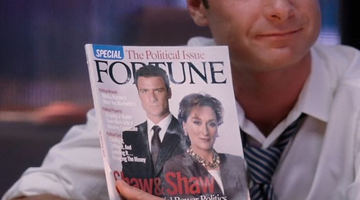 Fortune magazine in THE MANCHURIAN CANDIDATE (2004) Movie Product Placement