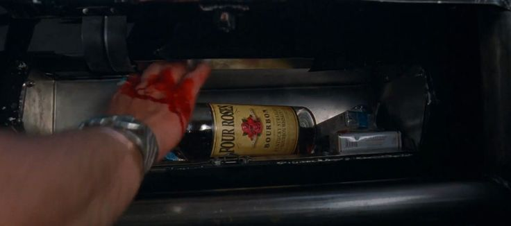 Four Roses Bourbon whisky in DEATH PROOF (2007) Movie Product Placement