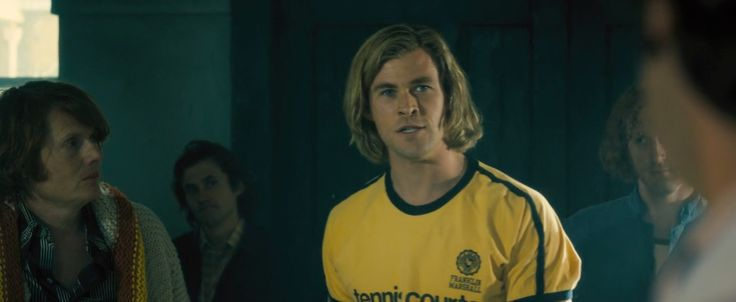 Franklin & Marshall t-shirt worn by Chris Hemsworth in RUSH (2013) Movie Product Placement