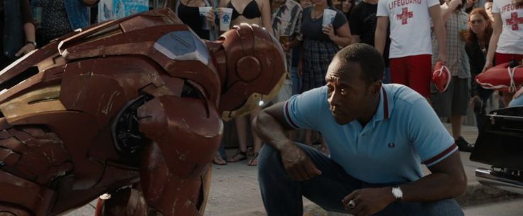Fred Perry Polo Shirt - Iron Man 3 (2013) Movie Product Placement
