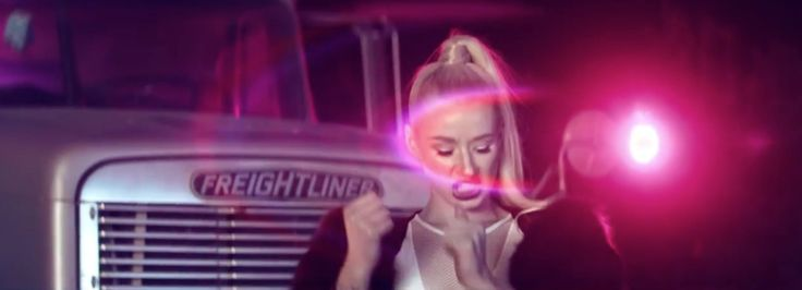 Freightliner truck in WORK by Iggy Azalea (2013) - Official Music Video Product Placement
