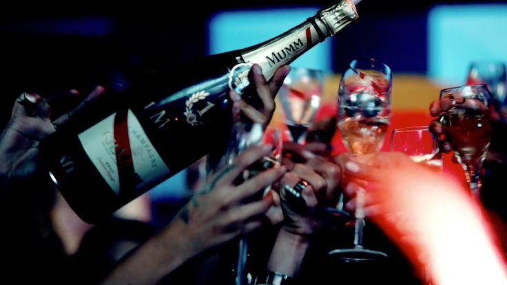 G.H. Mumm et Cie champagne in DANGEROUS by David Guetta (2014) Official Music Video Product Placement