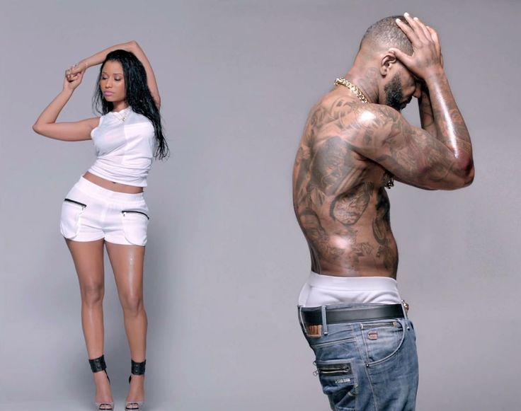 G-Star RAW jeans worn by The Game (Jayceon Terrell Taylor) in PILLS N POTION by Nicki Minaj (2014) - Official Music Video Product Placement