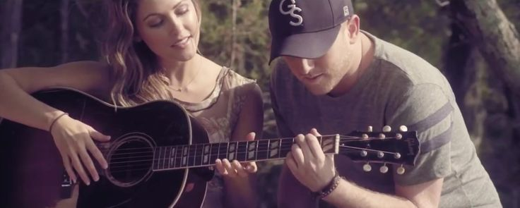 Gibson acoustic guitar in CHILLIN' IT by Cole Swindell (2013) Official Music Video Product Placement