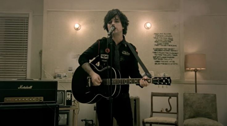 Gibson Acoustic Guitar Played By Billie Joe Armstrong And Marshall