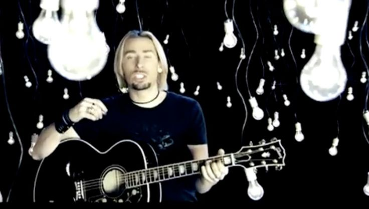 Gibson acoustic guitar played by Chad Kroeger in IF TODAY WAS YOUR LAST DAY by Nickelback (2008) Official Music Video Product Placement