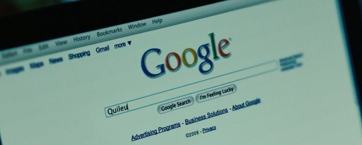 Google website in TWILIGHT (2008) Movie Product Placement