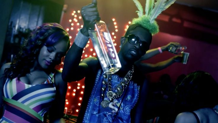 Grand Touring Vodka in #TWERKIT by Busta Rhymes (2013) Official Music Video Product Placement