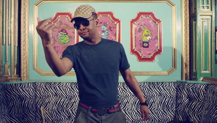Gucci cap and belt in THRIFT SHOP by Macklemore & Ryan Lewis (2012) - Official Music Video Product Placement