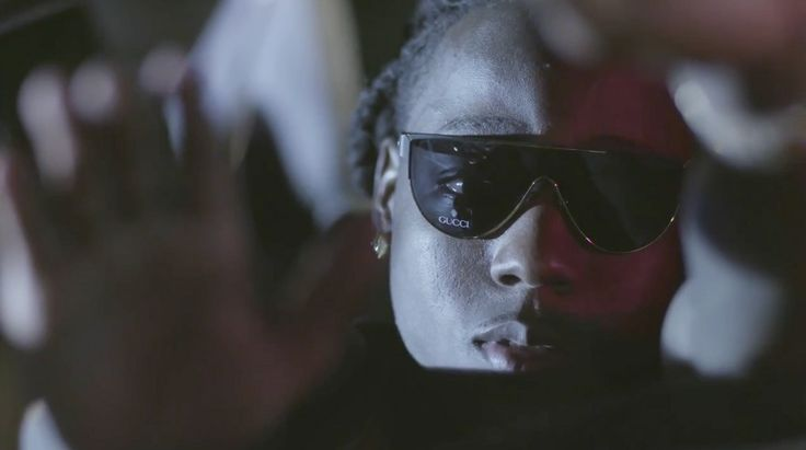 Gucci sunglasses worn by Ace Hood in BUGATTI (2012) Official Music Video Product Placement