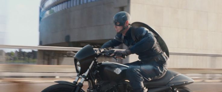 Harley-Davidson Street 750 Motorcycle driven by Chris Evans in CAPTAIN AMERICA: THE WINTER SOLDIER (2014) Movie Product Placement