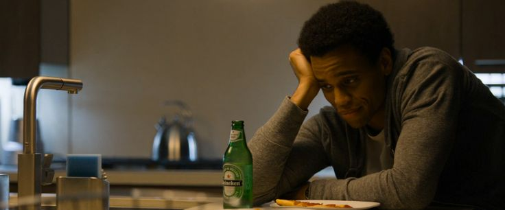 Heineken beer drunk by Michael Ealy in ABOUT LAST NIGHT (2014) Movie Product Placement