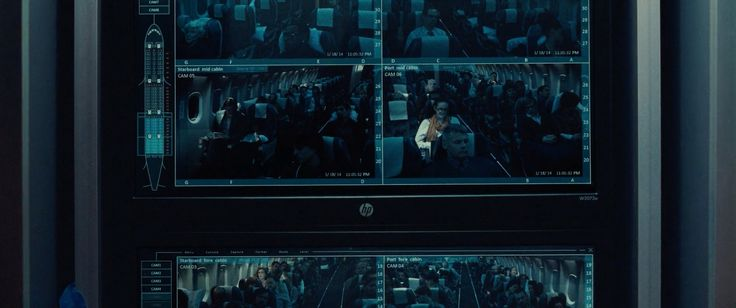 HP monitor in NON-STOP (2014) Movie Product Placement