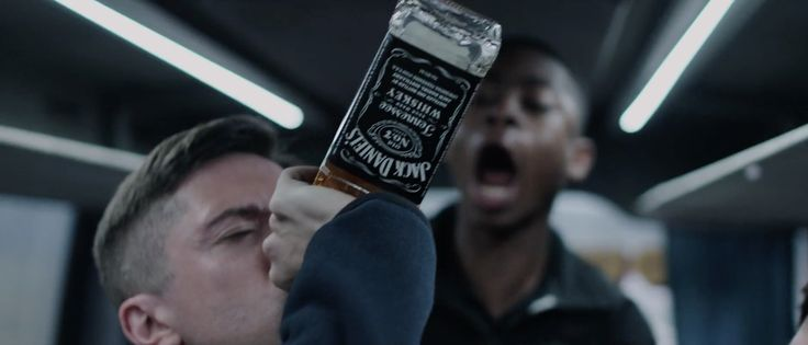 Jack Daniels whisky in WAR MACHINE (2017) - Movie Product Placement