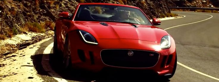 Jaguar F-Type car in BURNING DESIRE by Lana Del Rey (2013) - Official Music Video Product Placement