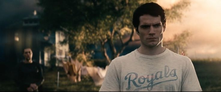 Kansas City Royals t-shirt worn by Henry Cavill in MAN OF STEEL (2013) Movie Product Placement