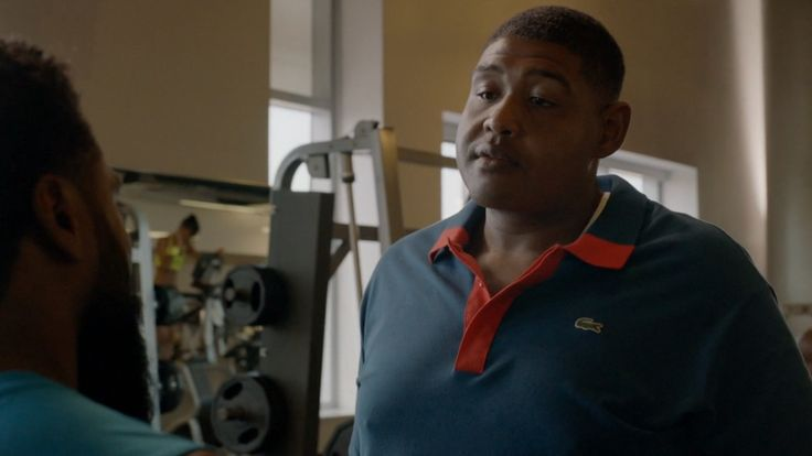Lacoste polo shirt worn by Omar Miller in BALLERS: ENDS (2015) - TV Show Product Placement