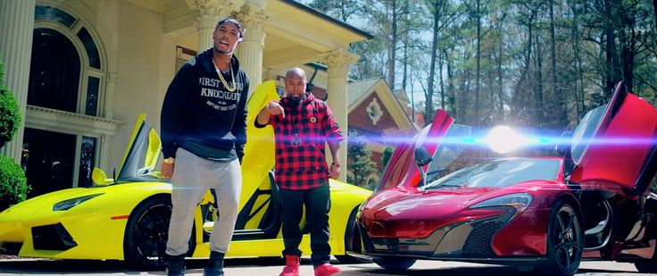 Lamborghini Aventador LP 700-4 and McLaren 650S cars in HOOD GO CRAZY by Tech N9ne (2015) Official Music Video Product Placement