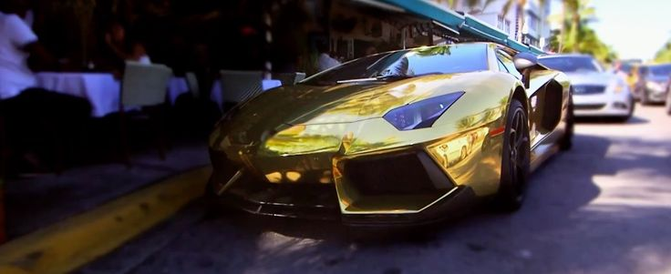 Gold Lamborghini Aventador LP 700-4 car in COCO (TV VERSION) by O.T. GENASIS (2015) Official Music Video Product Placement