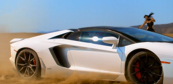 Lamborghini Aventador LP 700-4 Roadster car in WORK BITCH by Britney Spears (2013) Official Music Video Product Placement