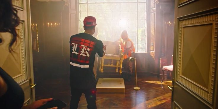 Last Kings t-shirt and cap worn by Tyga in AYO by Chris Brown (2015) - Official Music Video Product Placement