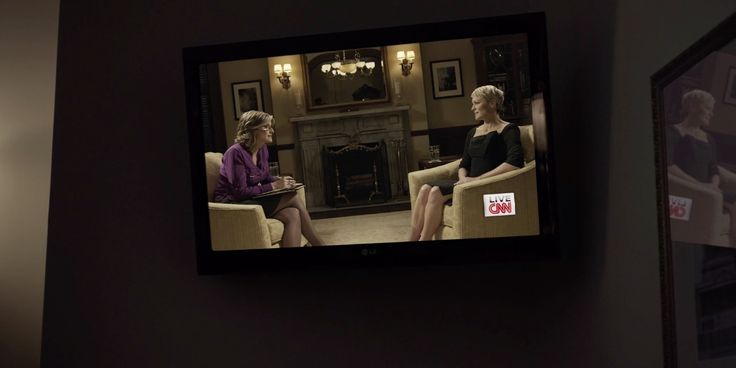 LG TV and CNN TV channel in HOUSE OF CARDS: CHAPTER 17 (2014) TV Show Product Placement