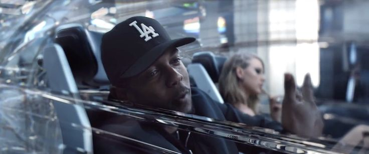 Los Angeles Dodgers cap worn by Kendrick Lamar in BAD BLOOD by Taylor Swift (2015) Official Music Video Product Placement