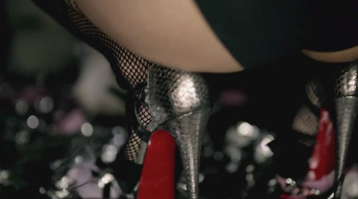 Louboutin shoes worn by Nicki Minaj in BEEZ IN THE TRAP (2012) Official Music Video Product Placement