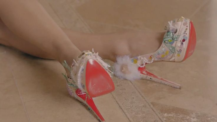 Louboutin shoes worn by Nicki Minaj in RIGHT BY MY SIDE (2012) Official Music Video Product Placement
