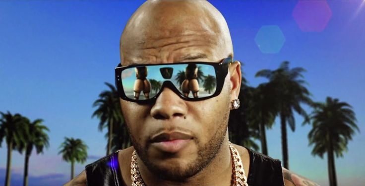 Louis Vuitton Black Bindi sunglasses worn by Flo Rida in CAN't BELIEVE IT (2013) - Official Music Video Product Placement