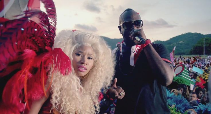 Louis Vuitton sunglasses in Nicki Minaj – Pound The Alarm Official Music Video Product Placement