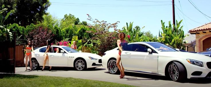 Maserati Ghibli and Mercedes-Benz S-Class Coupé [C217] cars in I'M UP by Omarion (2015) - Official Music Video Product Placement