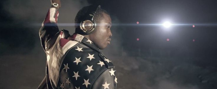 Monster 24k Over-Ear Headphones worn by Meek Mill in I DON'T KNOW (2014) Official Music Video Product Placement