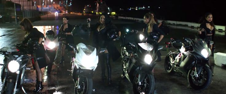 MV Agusta motorcycles in BADDEST GIRL IN TOWN by Pitbull (2015) Official Music Video