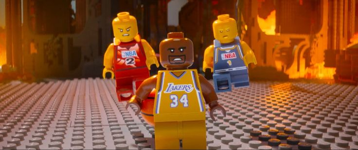 NBA and Los Angeles Lakers x Lego toys - THE LEGO MOVIE (2014) Animation Movie Product Placement
