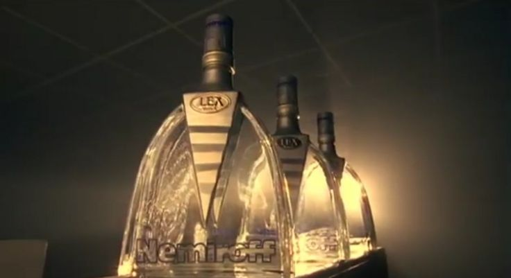 Nemiroff vodka in BAD ROMANCE by Lady Gaga (2009) Official Music Video Product Placement