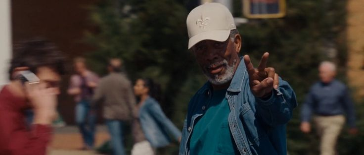 New Orleans Saints cap worn by Morgan Freeman in EVAN ALMIGHTY (2007) Movie Product Placement