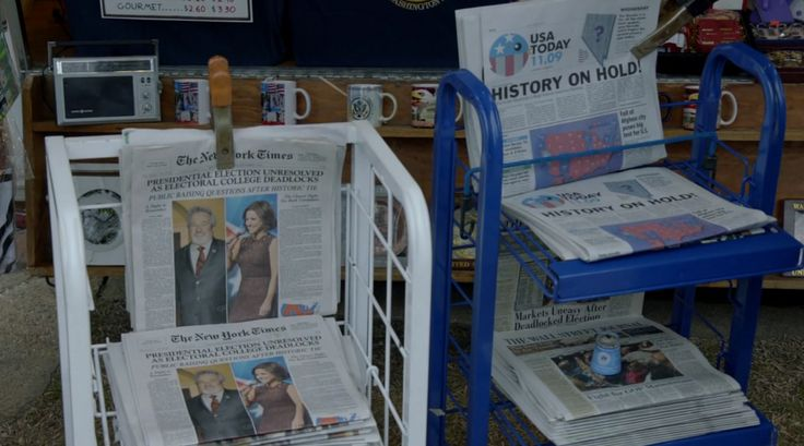New York Times and USA Today newspapers in VEEP: THE MORNING AFTER (2016) TV Show Product Placement