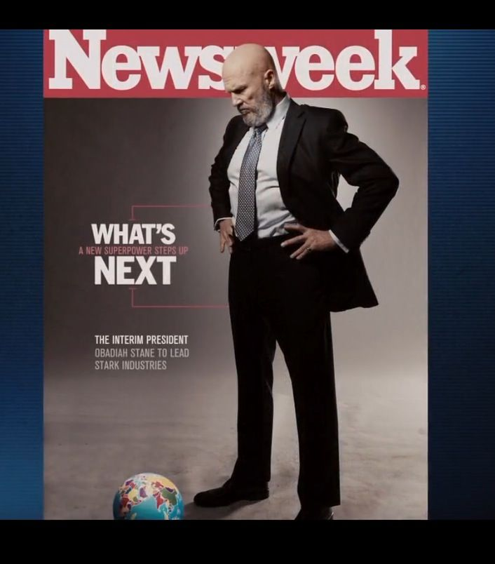 Newsweek Magazine - IRON MAN (2008) Movie Product Placement