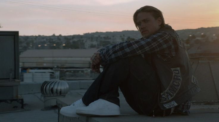 Nike Air Force One shoes worn by Charlie Hunnam in SONS OF ANARCHY: THE SEPARATION OF CROWS (2014) TV Show Product Placement