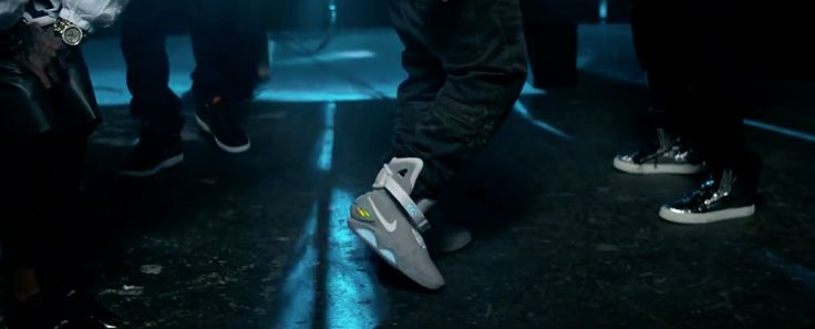 Nike Back to the Future II shoes in BOUNCE IT by Juicy J (2013) Official Music Video Product Placement