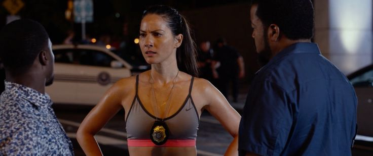 Nike sports bra worn by Olivia Munn in RIDE ALONG 2 (2016) Movie Product Placement