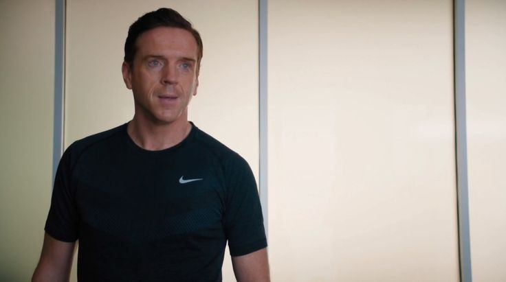 Nike t-shirt worn Damian Lewis in BILLIONS: THE DEAL (2016) TV Show Product Placement