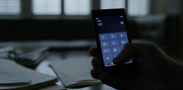 Nokia Lumia x AT&T mobile phone in HOUSE OF CARDS: CHAPTER 27 (2015) TV Show Product Placement