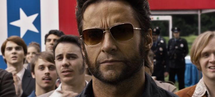 Oliver Peoples Sanford sunglasses worn by Hugh Jackman in X-MEN: DAYS OF FUTURE PAST (2014) - Movie Product Placement