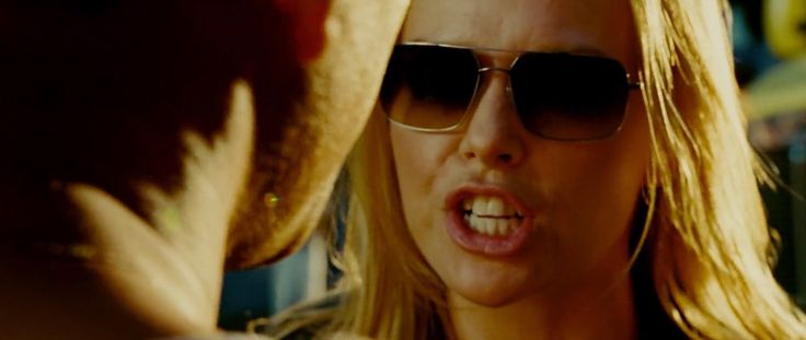 Paul Smith 833 sunglasses worn by Charlize Theron in HANCOCK (2008) Movie Product Placement