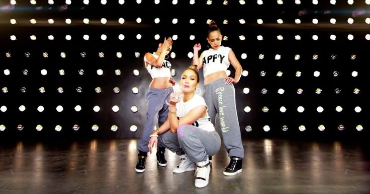Peace Love World t-shirts and sweatpants and Giuseppe Zanotti sneakers in I LUH YA PAPI by Jennifer Lopez (2014) Official Music Video Product Placement