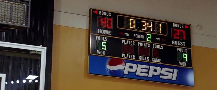 Pepsi scoreboard - Coach Carter (2005) Movie Product Placement